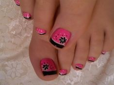 French pedicure designs toenails summer hot pink 63 Ideas for 2019 Cute Toe Nails, Fancy Nails, Love Nails, Pretty Nails, French Pedicure, Pedicure Nail Art, Toe Nail Art, Pink Pedicure, Toenail Art Designs