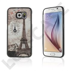 Persson Samsung Galaxy S6 Hårt Skal - Eiffeltornet och Karta