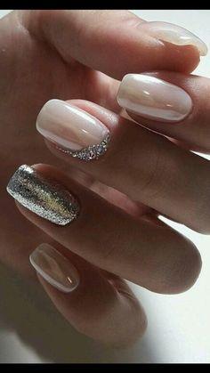 25 Elegant Nail Designs, NailDesing Nail Art Nail Artist nailart na is part of nails Design Frances Etsy - 25 elegant nail designs, Nageldesing NagelKunst Nail artist nailart nailartist naildesing Fas Trendy Nails, Cute Nails, My Nails, Glitter Nails, Glitter Wedding Nails, Weding Nails, Gradient Nails, Holographic Nails, Prom Nails