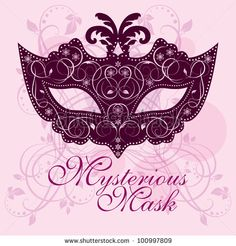 stock vector : Masks For A Masquerade. Vector Butterfly Party Mask.