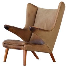 Papa Bear Lounge Chair by Hans J. Wegner, Produced by AP Stolen | From a unique collection of antique and modern lounge chairs at…