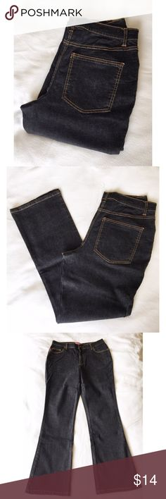 "Bootcut Jeans Dark wash bootcut jeans. 32"" inseam. 97% cotton, 3% spandex. Like new condition. Size 12W. Jeans Boot Cut"