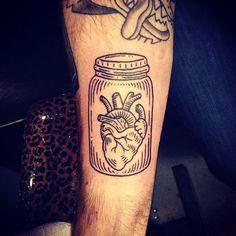 http://tattooideas247.com/wp-content/uploads/2014/09/Heart-In-A-Jar-Tat.jpg Heart In A Jar Tat #BlackTattoo, #HeartTattoo, #Jar, #JarTattoo