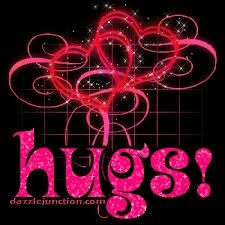 We all need hugs..give a hug n pass them around n receive a hug today..hugs are free..