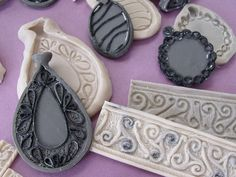 """From Jill Palumbo -- """"Sometimes I like to sculpt stamps and molds.  The filigree is extruded snakes."""""""