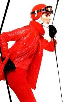 Ski fashion in Vogue Italia, 1969. Photo by Barry Lategan.