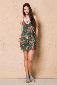 FYI - vestido estampa blur