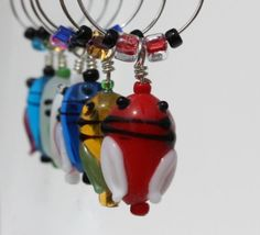 Grasshopper Wine Charms Drink Tags Glass Tags by ogdenarthaus,