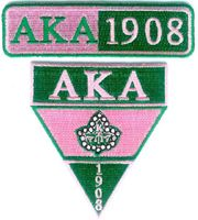 Alpha Kappa Alpha Sorority or AKA Patches Alpha Psi Omega, Alpha Kappa Alpha Sorority, Sorority And Fraternity, Phi Theta Kappa, Sigma Gamma Rho, Eastern Star, Black History Facts, Silhouette Cameo Projects, Pink And Green
