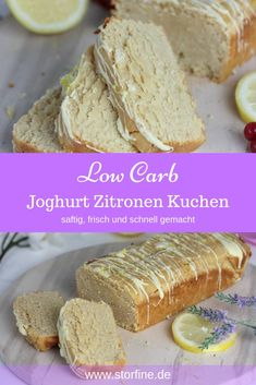 Low Carb Joghurt Zitronen Kuchen This low carb cake tastes refreshingly fruity on warm summer days. Due to the yoghurt and the fresh lemon juice, this sugar-free cake is incredibly juicy. Easy Healthy Recipes, Low Carb Recipes, Law Carb, Desserts Sains, Cake Tasting, Keto Cheesecake, Low Carb Desserts, Low Calorie Cake, Food Cakes
