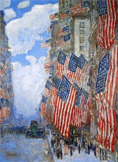 Frederick Childe Hassam, The Fourth of July, 1916