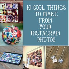 Get a jump start on handmade gifts for the holidays!  10 Cool Things to Make from Your Instagram Photos via Hey Look At Me