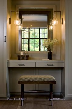 Exceptionnel A Steel Casement Window In An Adjacent Room Reflects In The Mirror At This  Built  · Built In Dressing TableWardrobe ...