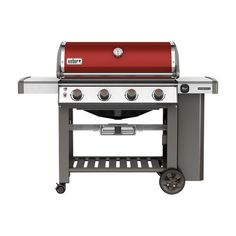 Weber Genesis II E-410 4-Burner Propane Gas Grill in Crimson (Red)