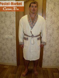Мужской халат Nusa 087 кремовый купить в интернет магазине Постель Маркет (Киев, Украина)