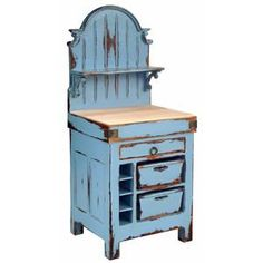French Butcher Block Hutch - kitchen islands and kitchen carts - new york - Zin Home