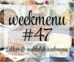 Lekker en makkelijk weekmenu – week 47 met o.a. kip kerrie, een heerlijke zuurkool ovenschotel, mosseltjes met een biertje, Turkse pizza met wraps en meer. Meal Prep, Meals, Breakfast, Food, Morning Coffee, Meal, Essen, Meal Planning, Yemek