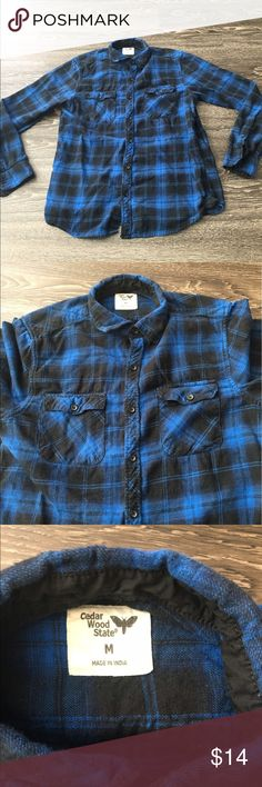 Cedar Wood State Men's Flannel Cedar Wood State Men's Flannel. Size: M cedar wood state Shirts Casual Button Down Shirts