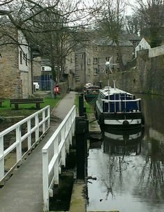 Canal boat Skipton North Yorkshire