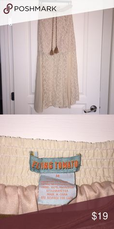 Altar'd state lace flowy skirt 70s flowy lace skirt from altar'd state! Cream color matched with every top. In EUC Altar'd State Skirts Maxi