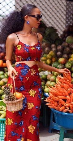 ankara fashion dress #LatestAfricanWear #AfricanPrintStyles