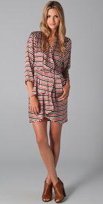 Thayer Striped Wrap Dress