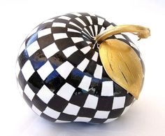 Gourd Art High Gloss Checkered Tomatoe Shaped Gourd by neadesigns, $25.00