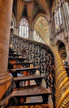 Stairway to Heaven Ely Cathedral, Cambridgeshire England Beautiful Architecture, Beautiful Buildings, Art And Architecture, Architecture Details, Cathedral Architecture, Ely Cathedral, Beautiful Stairs, Beautiful Places, Simply Beautiful