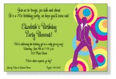 Decade Themed Invitations by Invitation Duck