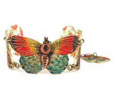 Deco verde mariposa enlace pulsera pulsera de por mamaslittlebabies