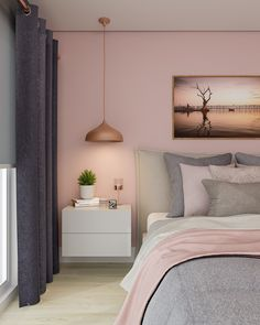 room makeover rose gold Zara Shimmer Metallic Wallpaper Soft Pink Rose Gold Home Decor Girl Bedroom Designs, Room Ideas Bedroom, Bedroom Colors, Home Decor Bedroom, Bedroom Wall, 60s Bedroom, Blush Bedroom, Design Bedroom, Bedroom Furniture