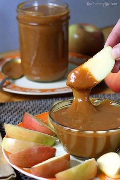 Slow Cooker Caramel Sauce from The Yummy Life featured on SlowCookerFromScratch.com