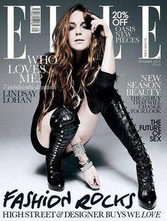 Lindsay Lohan covers Elle Magazine  - September 2009