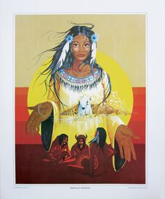 """White Buffalo Woman"" •  by Oglala Lakota Artist • Dale B. Two Eagles"