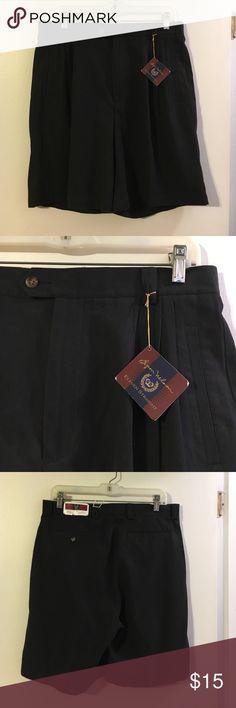 Byron Nelson men's black golf shorts NWT Silk/cotton blend. Byron Nelson Shorts