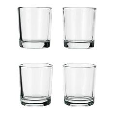 US IKEA ONLY - UPPEHÅLL, Votive candle holder- $1 for 4 pack - 10 per table x 8 tables = 80/4 = 18 = $20 = 80 ($0.25/ea)