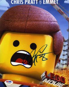 Chris Pratt Lego Movie Signed 8x10 Photo Certified Authentic PSA/DNA