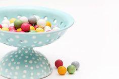 Majolika-R / Mentolová misa na dobroty Decorative Bowls, Polka Dots, Handmade, Vintage, Home Decor, Hand Made, Decoration Home, Room Decor, Vintage Comics