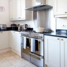 Pale grey Shaker-style kitchen   Decorating