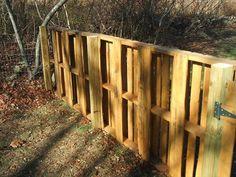 diy pallet wood fence