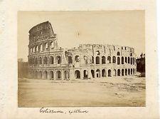 Albumen Photograph ITALY Colliseum Exterior About 1860 ROME