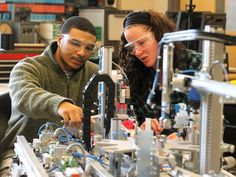Mechatronics students at California University of Pennsylvania are prepared for careers in robotics and advanced manufacturing. #mechatronics #robotics #caluofpa