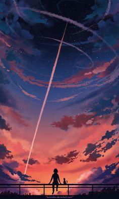 ¿Un cometa o un misil? Da igual, la escena es hermosa.