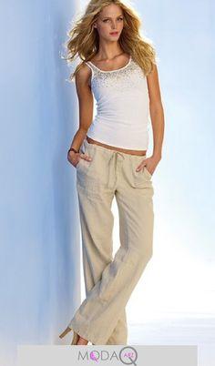 awesome Bayan keten pantolon modelleri