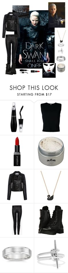 """""""Once Upon A Time - S5 The Dark Swan"""" by allyssister ❤ liked on Polyvore featuring Once Upon a Time, Lancôme, Rito, Smashbox, IRO, Swarovski, Alexander McQueen, Capezio, Noir Jewelry and Aqua"""