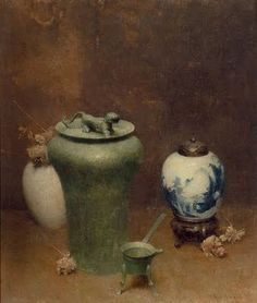 Chinese vases still life