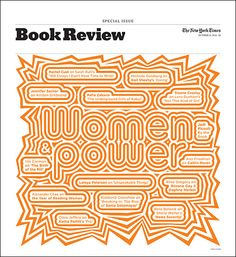 Cover of the October 12 issue of 'The New York Times Book Review', designed by Paula Scher.