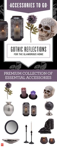 Lighten up the room with a little darkness with our Gothic Reflections - Accessories To Go box.