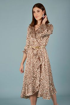 VESTIDO ARTEMISA | Teria Yabar Primavera Verano 2020 Wrap Dress, Shirt Dress, Animal, Shirts, Dresses, Fashion, Vestidos, Viscose Dress, Parts Of The Mass