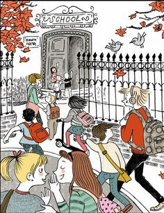 First day of school First Day Of School, Boy Or Girl, September, Pencil, Comic Books, Scene, Graphic Design, Texture, Comics